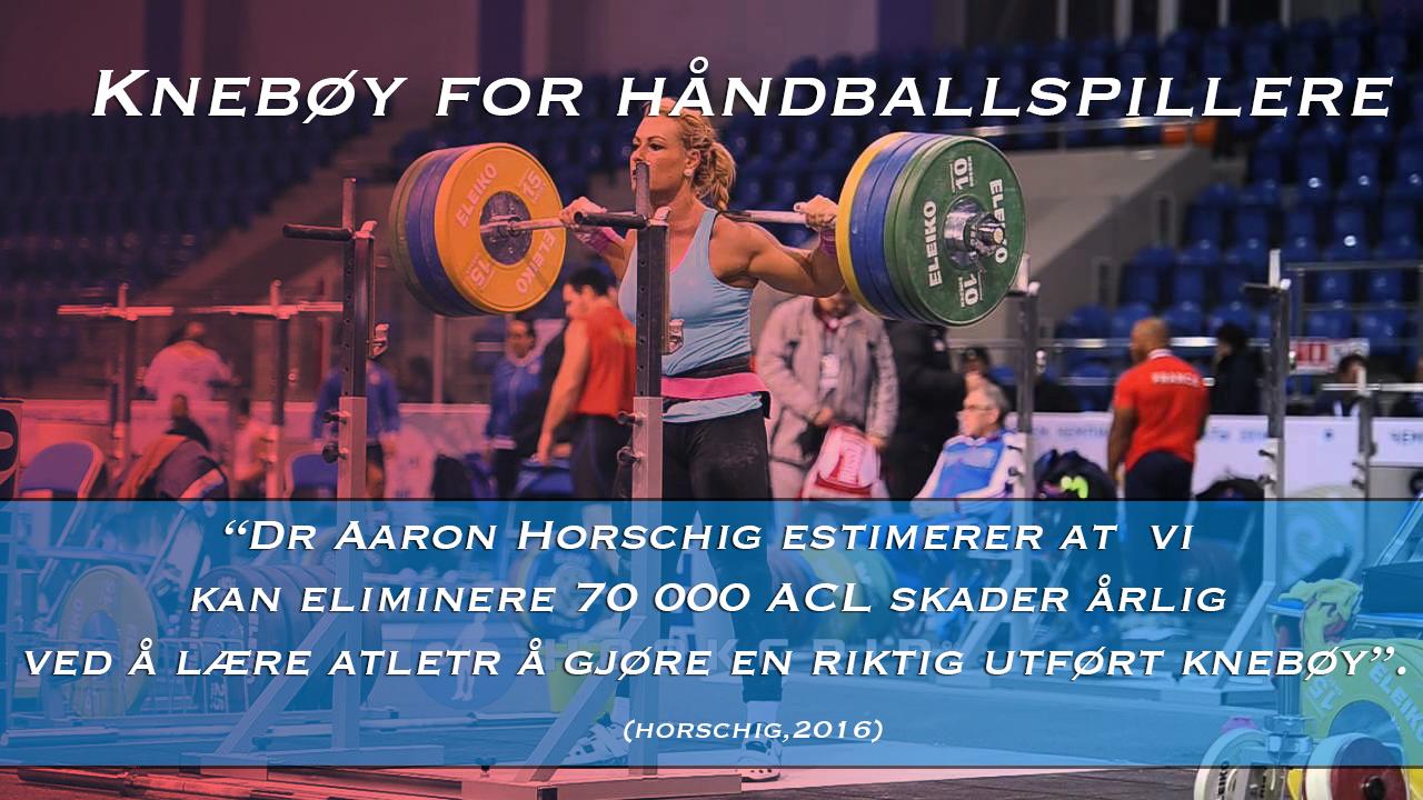 Knebøy for håndballspillere